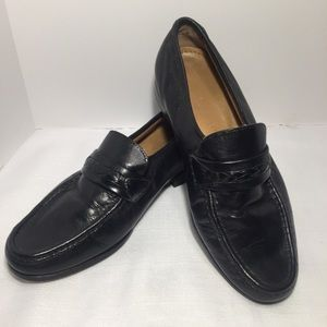 David Taylor Black Leather Loafers
